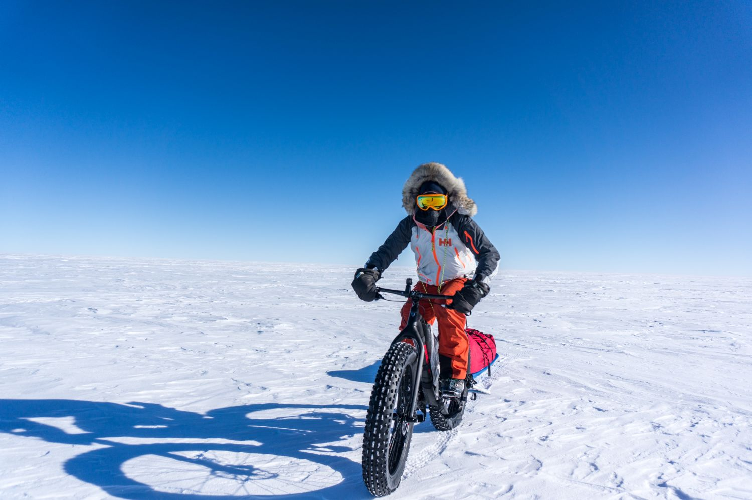 American polar adventurer and educator Eric Larsen is the first person to have set foot at the North Pole, the South Pole, and atop Mount Everest within 365 days. He talks about his fitness regime, the popularity of polar expedition tourism, and offers tips for traveling to the planet's coldest destinations.