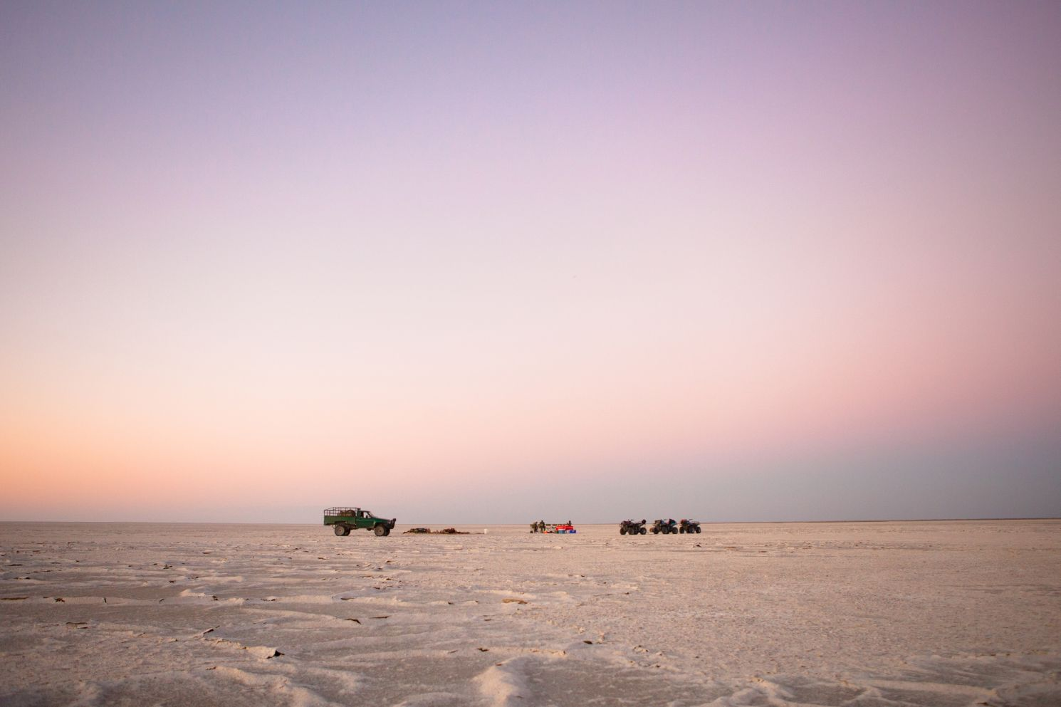 Desert & Delta Safaris now offers intrepid travelers the chance to spend the night out under the stars in Botswana's acclaimed Makgadikgadi Salt Pan.
