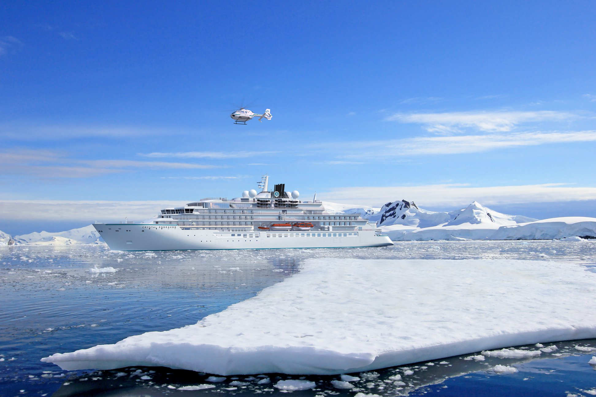 Crystal Expedition Cruises has officially welcomed its new 20,200 GRT luxury expedition yachtCrystal Endeavorto the Crystal fleet.