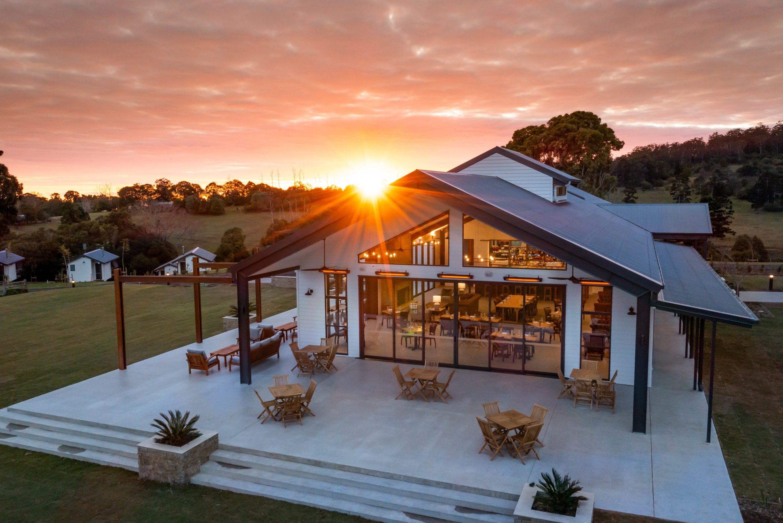 Hazelwood Retreat, anew luxury destination set on a 75-acre wagyu and polo farm Australia's Scenic Rim, willtransport visitors to a place of wide-open spaces and fresh country air.