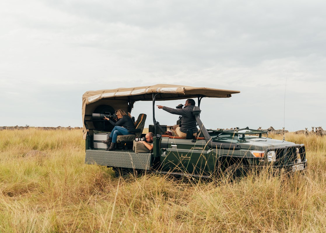 Asilia Africa has collaborated with wildlife photographerGeorge Benjamin and conservation biologist Lara Jackson to create a new take on the classic Kenyan photographic safari.