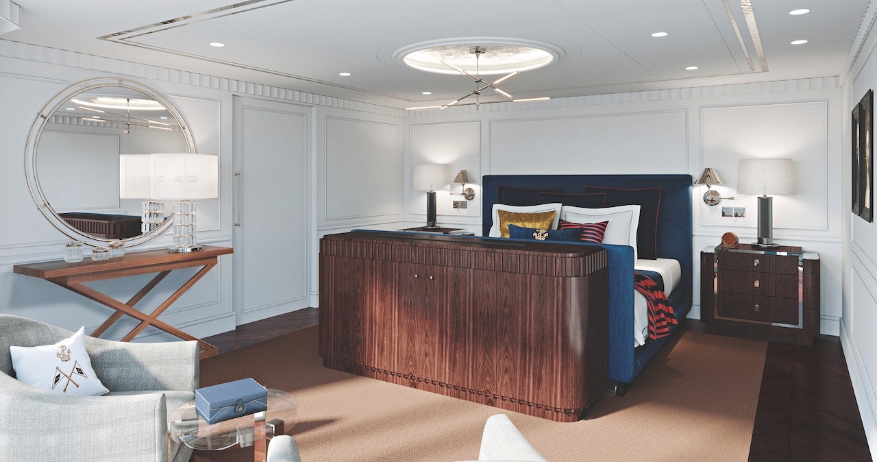 Oceania Cruises has unveiled the palatial Owner's Suites and top-of-ship Library aboardVista, which will be exclusively styled by Ralph Lauren Home.