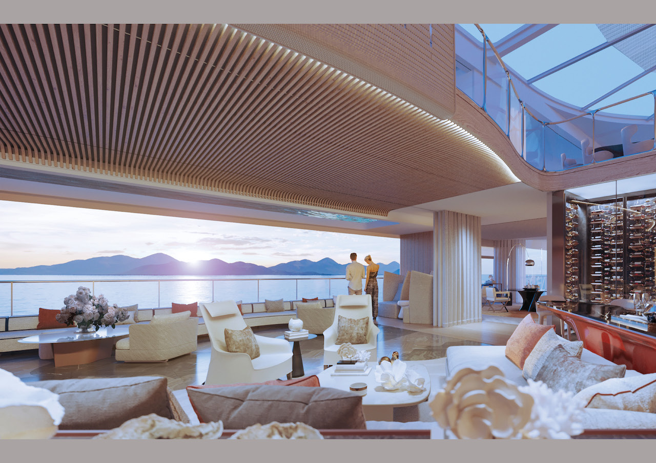 Private residential superyacht M/Y Njord promises cutting-edge design, sublime apartments, and an ever-changing view from the window.